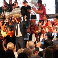 """""""IMT Smile a Lúčnica"""" a Marián Hossa (Stanley Cup víťaz 2015, 2013, 2010). Trenčiansky hrad 21. 8. 2015"""