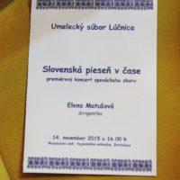 Slovenská pieseň v čase - premiéra 14.11.2015 (autor foto: Pavel Kováč)